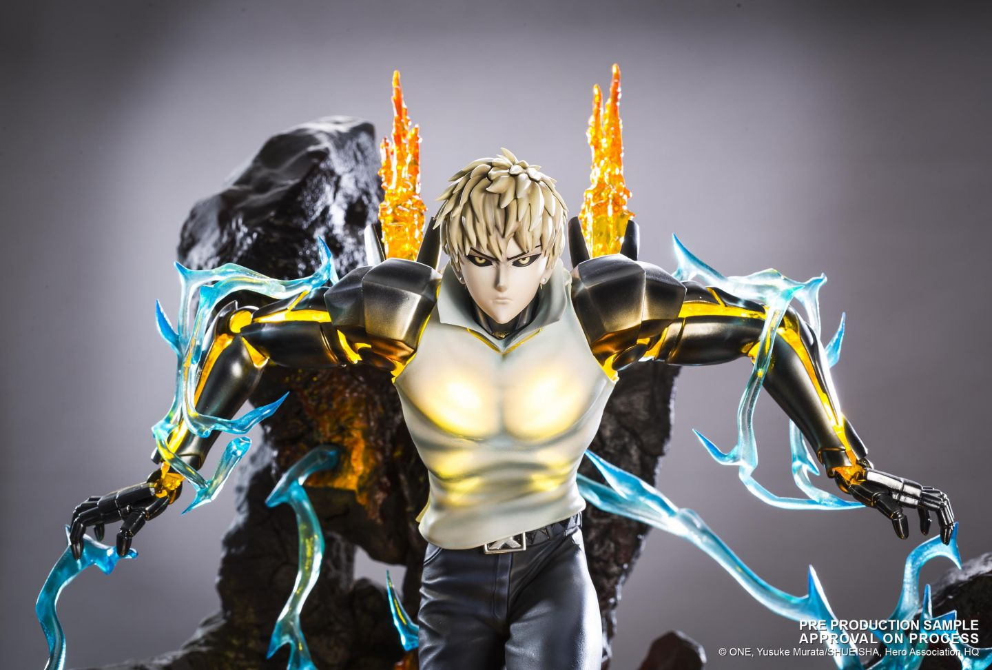 One Punch Man Genos Xtra Tsume Art Figure ORIGINALE